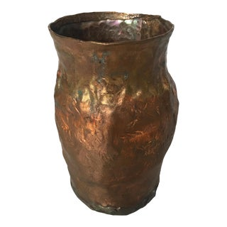 Hand Forged Copper Vessel For Sale