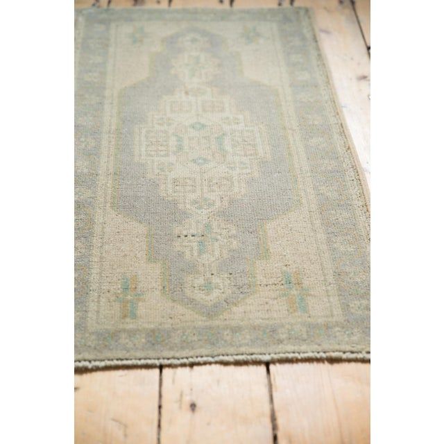 "Old New House Vintage Distressed Oushak Rug Mat Runner - 1'9"" X 3'4"" For Sale - Image 4 of 7"