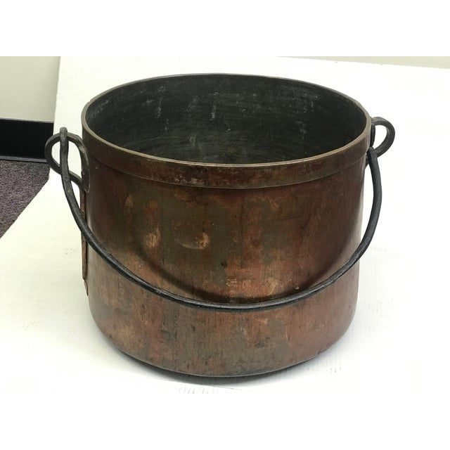 French Rustic Copper Pot For Sale - Image 11 of 11