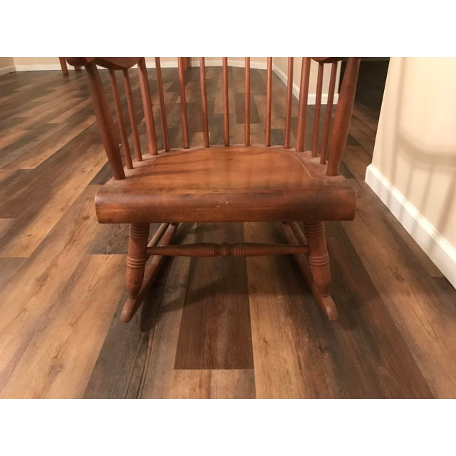 Vintage Wood Rocking Chair For Sale - Image 12 of 13
