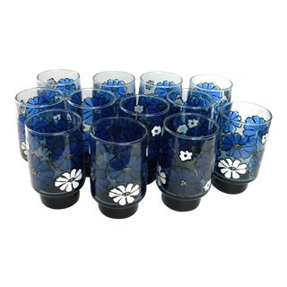Libbey Camellia Stackable Tumblers - Set of 12 For Sale