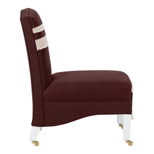 Traditional Casa Cosima Sintra Chair, Merlot For Sale - Image 3 of 5