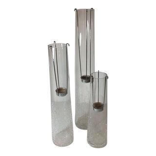 Crackled Glass Suspended Votive Holder - Set of 3 For Sale