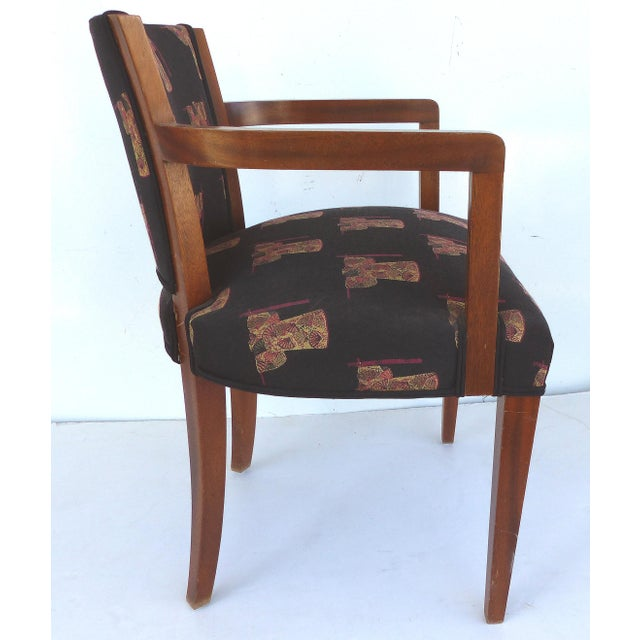 French Art Deco Arm Chairs - A Pair For Sale - Image 5 of 11