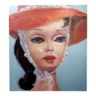 """Claudia Parducci """"Open Road"""" Girl W/ A Red Hat Oil Painting For Sale"""