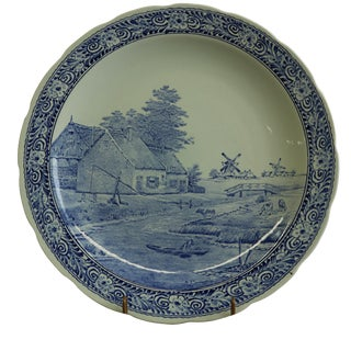 Plate Signed Sonneville Boch Royal Sphinx Blue For Sale
