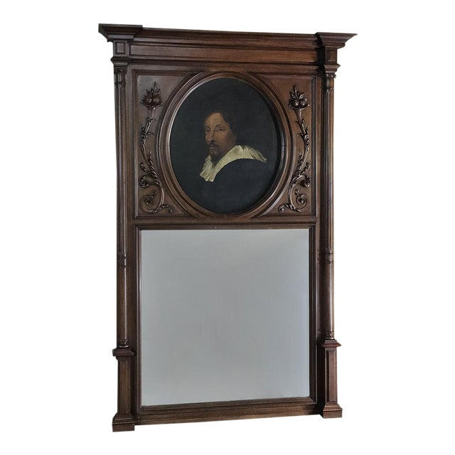 Trumeau, 19th Century French Henri II in Walnut For Sale