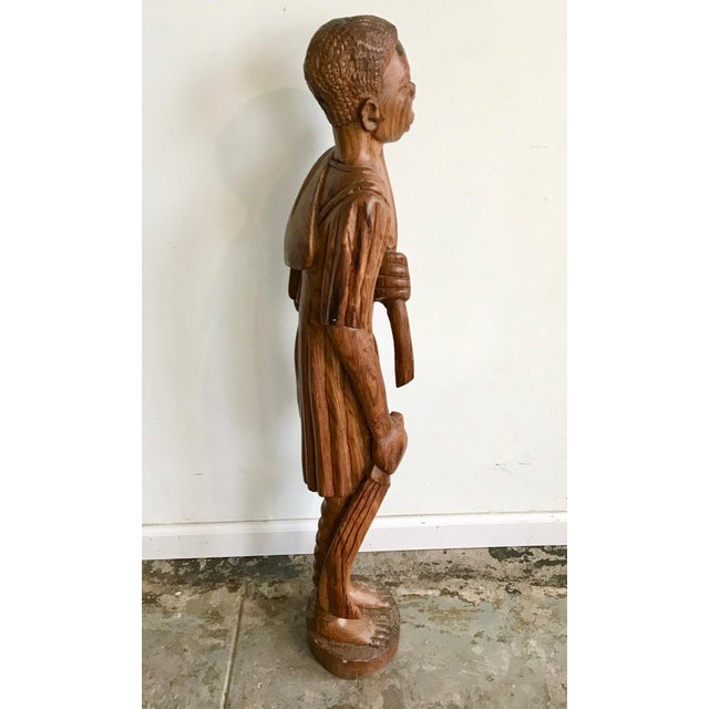 Wood 1900s Vintage Carved Wood African Tribal Sculpture For Sale - Image 7 of 8