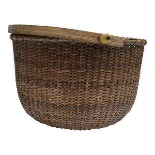 Authentic Nantucket Mahogany Basket