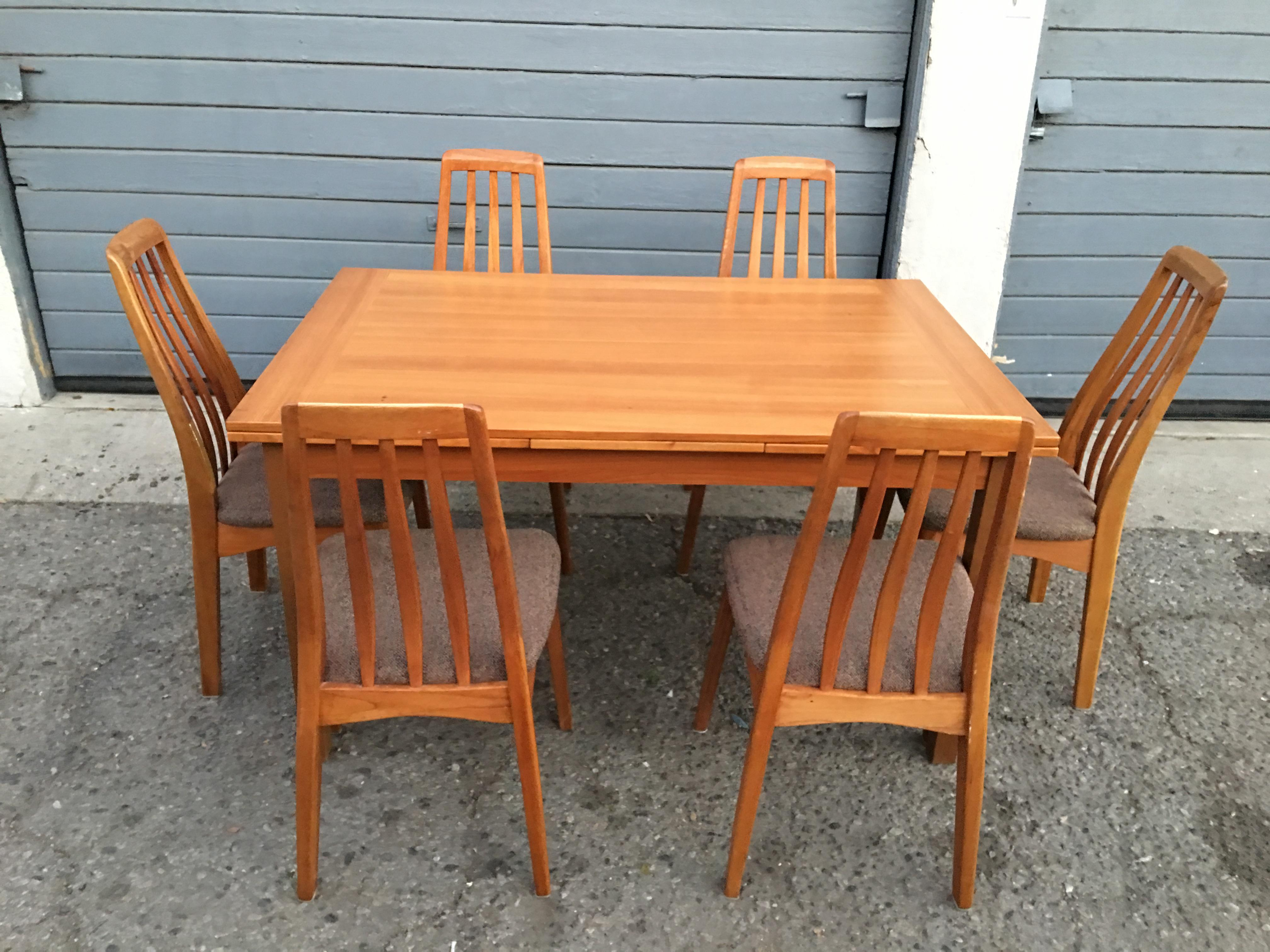 Benny Linden Design Mid Century Dining Table U0026 6 Chairs For Sale   Image 4