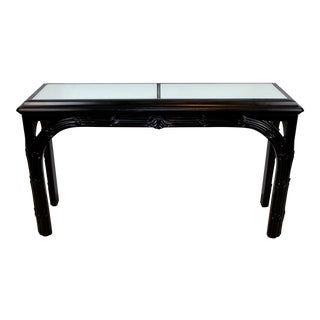 Vintage Roche Era Gampell Stoll Art Deco Mirrored Carved Console Table For Sale