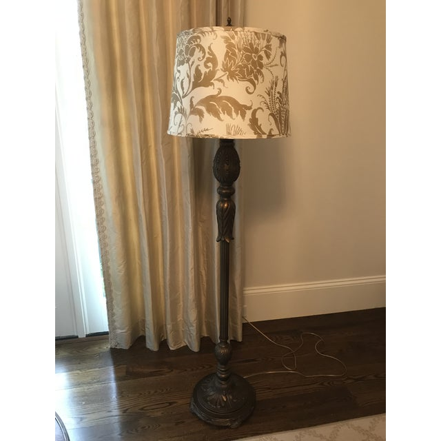 Acanthus style floor lamp with jamie young shade chairish acanthus style floor lamp with jamie young shade image 9 of 11 aloadofball Image collections