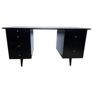 1950s Mid-Century Modern Paul McCobb Planner Group Pedestal Partner Desk For Sale