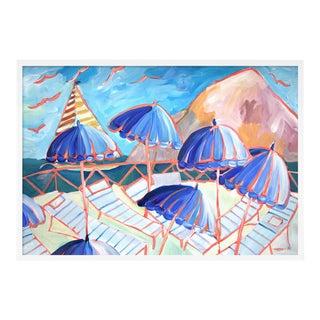 Cabana 2 by Lulu DK in White Framed Paper, Medium Art Print
