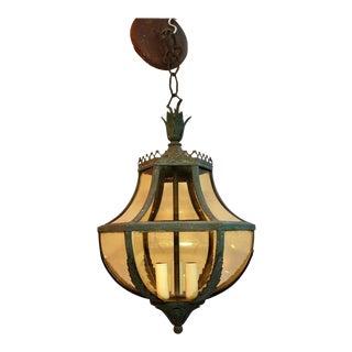 1920s Copper Lantern For Sale