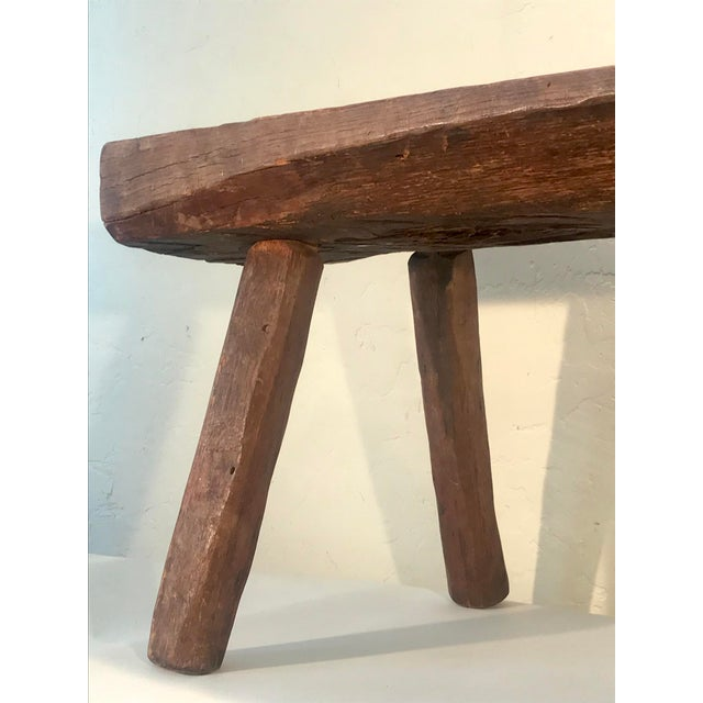 Antique Primitive Live Edge Coffee Table For Sale In San Francisco - Image 6 of 11
