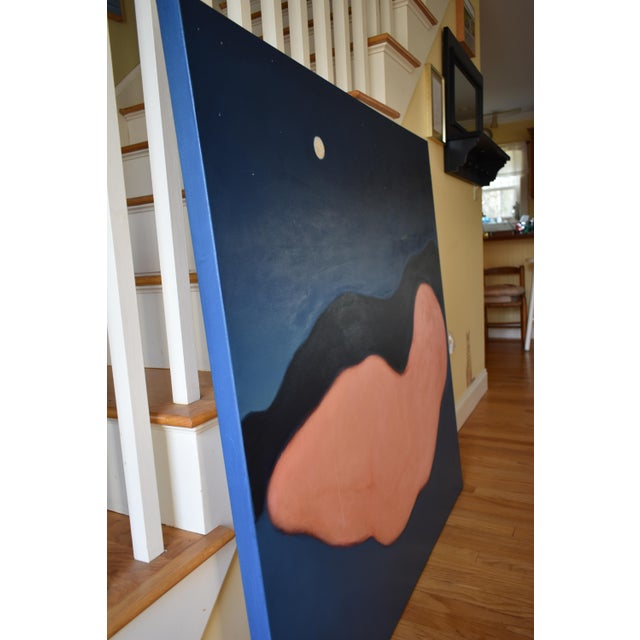 """Paint """"Night"""" Large Contemporary Abstract Painting by Stephen Remick For Sale - Image 7 of 10"""