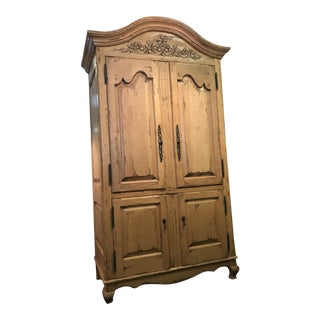 Bausman Country French Style 4 Door Armoire For Sale
