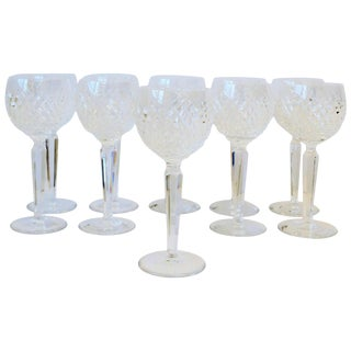 Vintage Waterford Crystal Wine Cocktail Water Goblet Glasses, Set of 12 For Sale