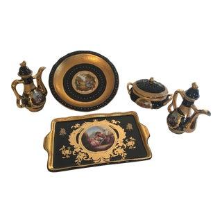 Antique Persian Porcelain Set of 8 For Sale