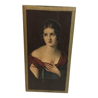 Vintage Lady Portrait Decoupage Wooden Trinket Box