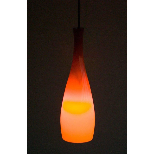 1960s Danish 1960s Jacob Bang Glass Pendant For Sale - Image 5 of 6