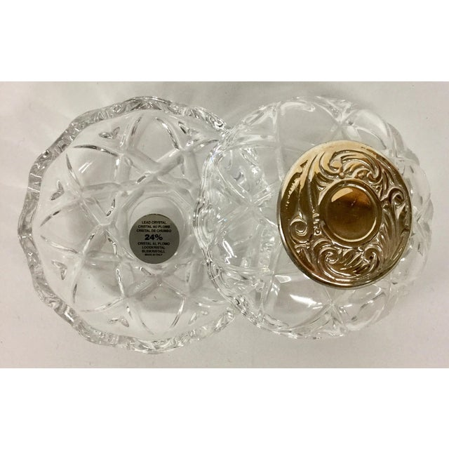 Italian 1980s Italian Lead and Crystal Silver Plate Trinket Dish For Sale - Image 3 of 8