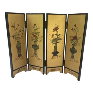 Vintage Chinoiserie Tabletop Screen For Sale