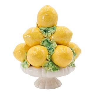 Vintage Italian Majolica Lemon Topiary For Sale