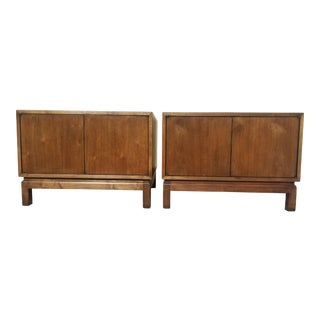 Vintage Mid Century Bedside Side Table Cabinets by Cal Mode - a Pair For Sale