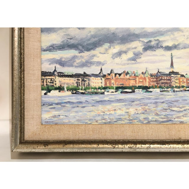 """Old Stockholm"" Oil on Canvas Painting by Thomas Van Stein For Sale - Image 10 of 13"