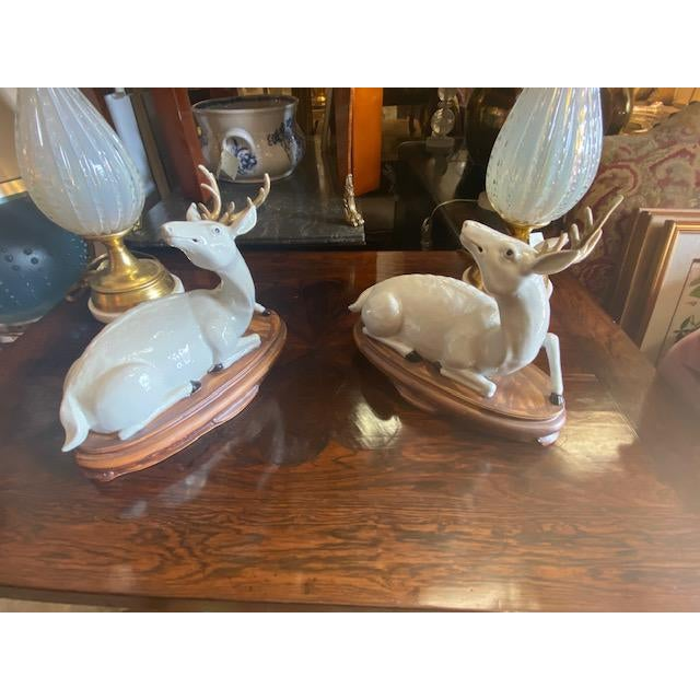 Pair of Vintage Porcelain Deer Figurine For Sale - Image 11 of 11