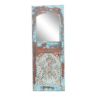 Indo-Portuguese Sunburst Azul Mirror For Sale