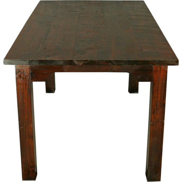 French Country Plank-Top Dining Table - Image 7 of 8