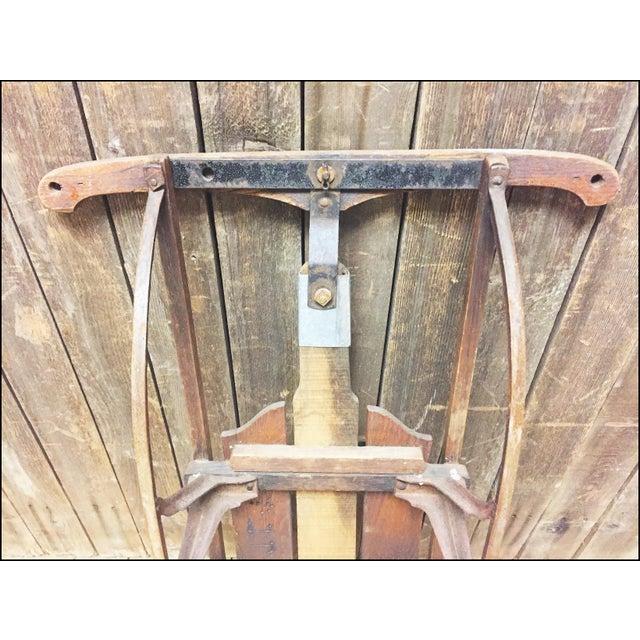 Vintage Wood & Metal Runner Sled - Image 8 of 11