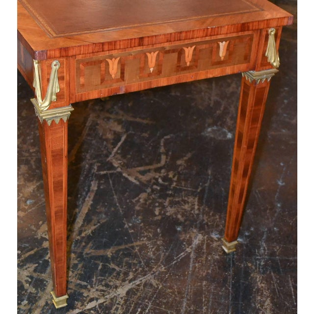 French Transitional Parquetry Inlaid Desk For Sale In Dallas - Image 6 of 10
