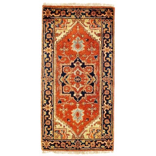 "Traditional Pasargad N Y Fine Serapi Design Hand-Knotted Rug - 2'1"" X 4'1"""