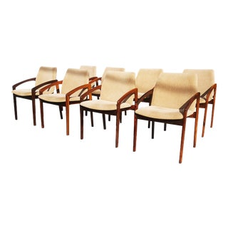 Danish Modern Rosewood Henning Kjaernulf Dining Chairs. - Set of 8 For Sale