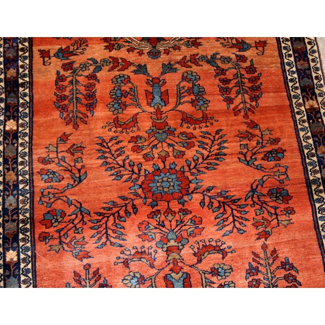 Islamic 1900s Handmade Antique Persian Sarouk Rug For Sale - Image 3 of 9
