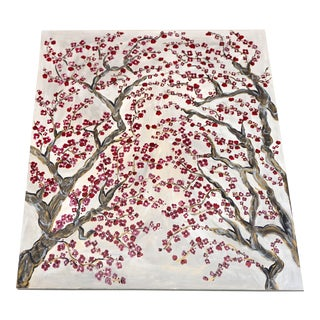 """Cherry Blossom Trees"" Signed Original by Tia Zoldan For Sale"