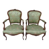 Image of Antique Louis XV Style Chairs - A Pair For Sale