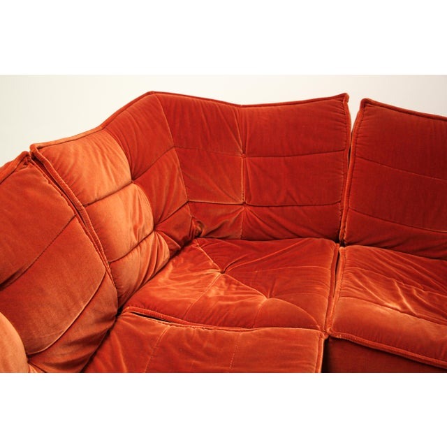 French 1970s French Modular Mohair Sofa For Sale - Image 3 of 13