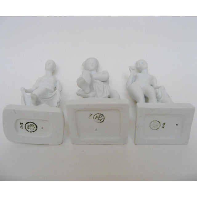 Ceramic Bing & Grøndahl Bisque Figurines, Set of 3 For Sale - Image 7 of 8