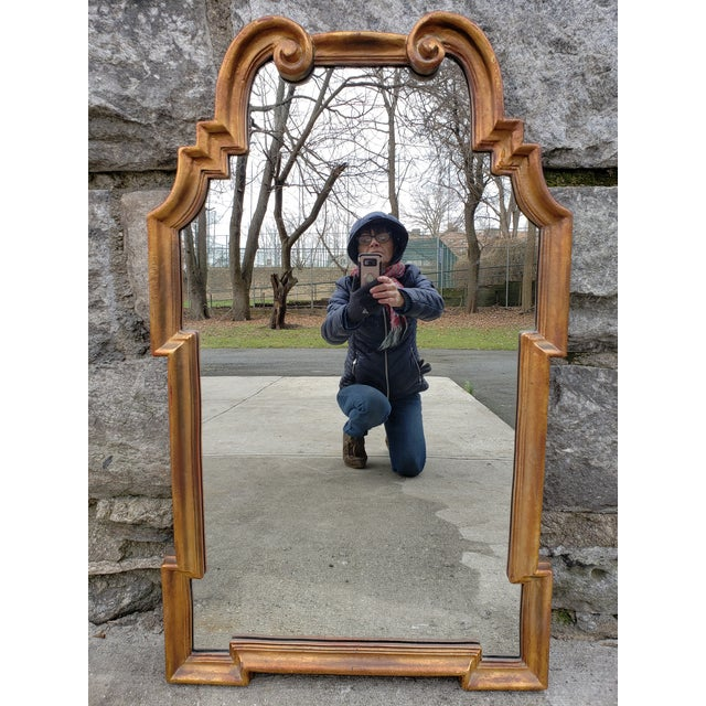 Gold Hollywood Regency Mirror For Sale - Image 12 of 12