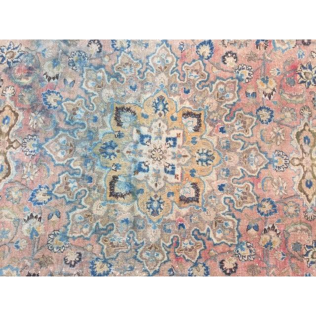 Textile Persian Tribal Overize Handwoven Beige Floor Rug - 9′6″ × 12′5″ For Sale - Image 7 of 11