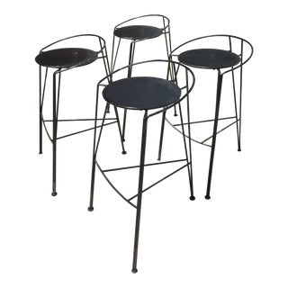 Pascal Morgue French Barstools - Set of 4