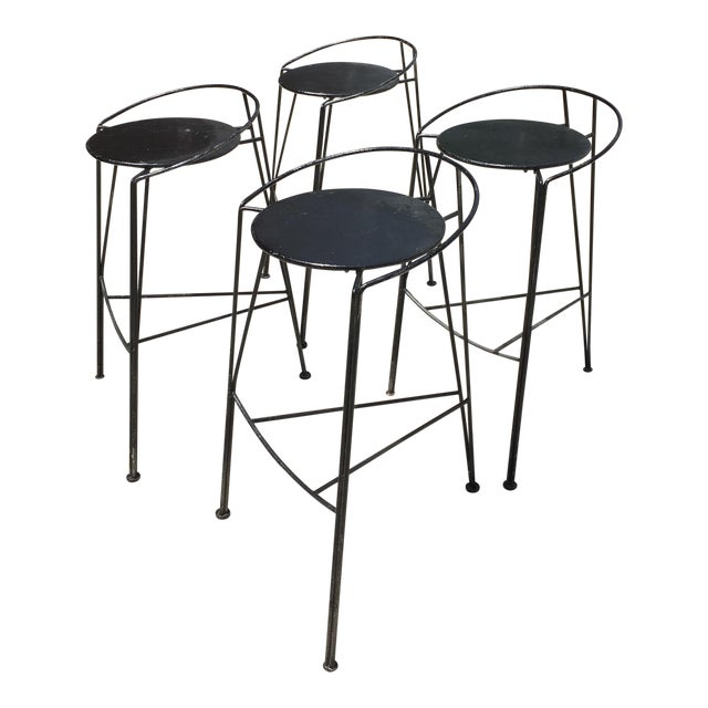 Pascal Morgue French Barstools - Set of 4 - Image 1 of 10