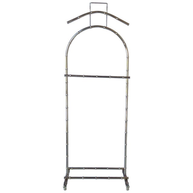 Gorgeous vintage brass bamboo standing valet. Perfect for hanging towels in a guest or master bathroom and great as an...