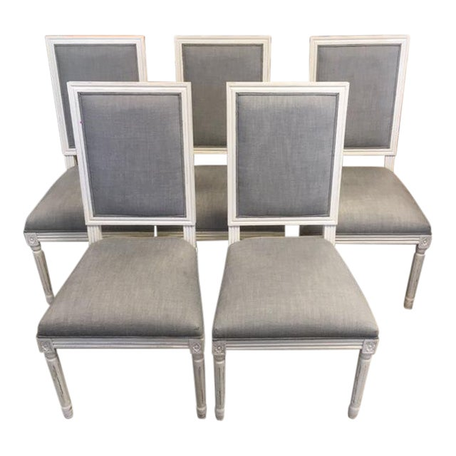Restoration Hardware French Dining Chairs - Set of 5 For Sale