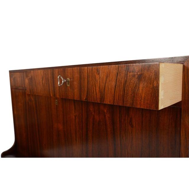 Danish Modern Rosewood Secretary Bar - Image 8 of 9